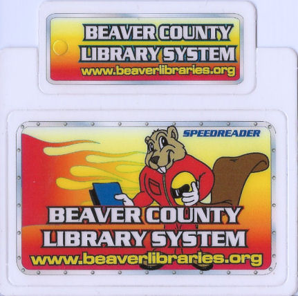 Beaver County library card example